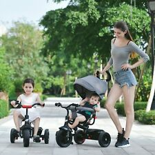 3 Wheels Baby Stroller Child  Safety Bike Infant Sunshade Pushchair Tricycle