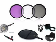 NY48 58mm Adapter Lens Hood Pen UV CPL FLD Filter Set Bundle For Canon PowerShot