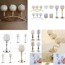 Crystal Votive Tealight Candle Holder Candlestick Wedding Home Banquet -Assorted