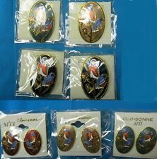 SALE-CLOISONNE BLUE BIRD PIN OR POST EARRINGS-EXCLUSIVE-NEW