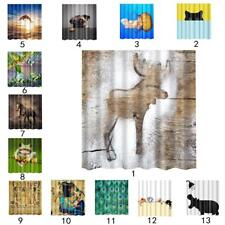 """71x71"""" Water Resistant Shower Curtain Polyester Bathroom Panel Animal Print"""