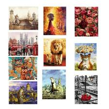 Frameless Canvas DIY Oil Painting Decorative Paint by Number Kit Living Room