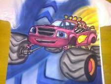 Blaze and the Monster machines Custom airbrushed t shirt