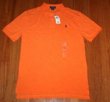 NWT Polo Ralph Lauren Boys Short Sleeve Polo Shirt Resort Orange Pony Logo *W8