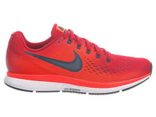 NEW MENS NIKE AIR ZOOM PEGASUS 34 RUNNING SHOES TRAINERS GYM RED / ARMORY NAVY