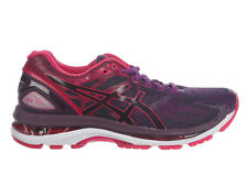 NEW WOMENS ASICS GEL-NIMBUS 19 RUNNING SHOES TRAINERS BLACK / COSMO PINK / WINTE