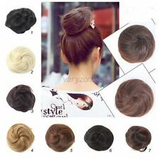 US Women Ladies Ponytail Clip in/on Hair Bun Hairpiece Hair Extension Scrunchie