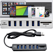 2In1 High Speed 6-Port USB 2.0 Hub Comb SD/TF Card Reader For Laptop Computer EW