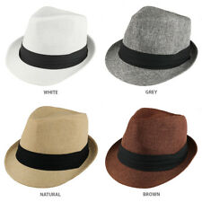 UV 50+ Sun Protective Woven Fedora with Pleated Hat Band - Free Shipping