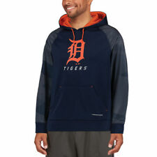Majestic Detroit Tigers Navy Armor II Tonal Therma Base Pullover Hoodie - MLB