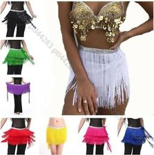 New Belly Dance Costume Hip Scarf Belt Tribal Fringe Tassel Skirt Wrap 12 Colors