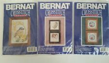 NIP-Bernat Counted Crosstich Kits:Kiskadee Flycatcher, Lattice, or Hearts-U pick