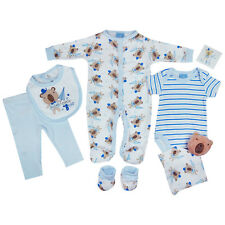 7 Piece Baby Boys Girls Unisex Clothing Outfit Layette Gift Set Cute Bear NB-3-6
