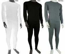 MENS FULL SET THERMAL UNDERWEAR LONG SLEEVE VEST TOP & LONG JOHNS S -2XL