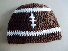 Crocheted Baby Football Hat, Photo Prop, Shower Gift, You Pick The Size