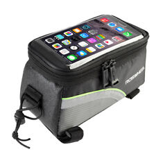 Cycling  Frame Front Tube Bag Phone Holder Touch Screen Roswheel Bicycle Pouch