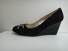 BANDOLINO Women's Platforms Wedges Pumps Black Suede High Heels Shoes~Sz 9.5, 10