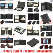 Men's Genuine Leather Bifold Trifold Wallet Money Clip Card Holder Clutch Purse