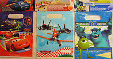 6 x Disney Pixar Party Loot Gift Bags (Planes, Cars 2, Monsters University)