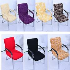 Polyester Chair Cover Office Computer Seat Swivel Chair Slipcover Size S 7Colors