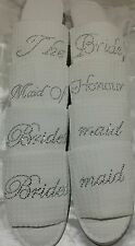 Spa Rhinestone Personalized Slippers Robes Bridal Wedding Bridesmaid Hen Party