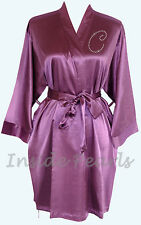 Purple Orchid Bridesmaid Robes Satin Gown Bride Robe Bridal Party Wedding Gift