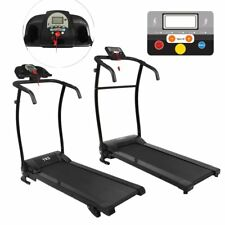 Manual Folding Electric Treadmill Motorised Portable Running Machine Fitness