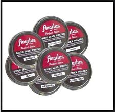 1 Angelus Shoe Shine Wax Polish Leather Boot Repair Military Police Fresh 3 oz