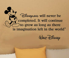 Disney Mickey Mouse Disneyland will never be wall quote vinyl wall decal sticker