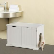 Hidden Litter Box Cat Kitty Furniture Cabinet Bench Enclosure Covered House NEW