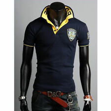 T-Shirts Short Sleeve Shirt Slim Fit Tee Stylish Tops New Mens Polo Casual Y0431