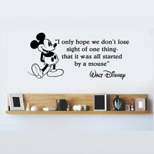 Disney Mickey Mouse I Only Hope We Dont wall quote vinyl wall decal sticker