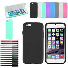 For Apple iPhone 6 TPU Matte Wrap Up Phone Case Cover Built in Screen Protector