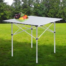 2 Size Outdoor Folding Table Desk Aluminium Camping Outdoor Picnic Party BBQ UK