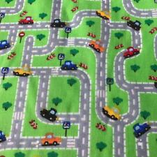 "Cars Beep Beep Green printed poly cotton print fabric material 115cm 45"" wide HS"