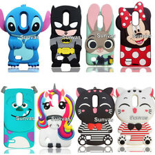 3D Animal Stitch Batman Minnie Soft Silicon Case Back Cover Skin For LG K10 2017