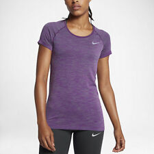 Nike DRI FIT KNIT WOMEN'S SHORT SLEEVE RUNNING TOP Green/Berry- XS,S,M, L Or XL
