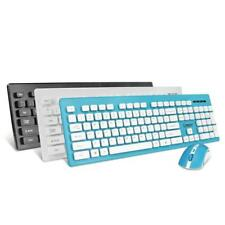 Wireless Keyboard and Mouse Combo Ergonomic Compact Set 2.4G for Desktop