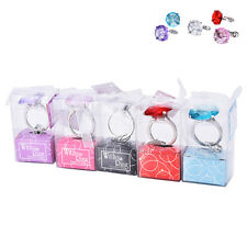 Super Big Diamond Crystal Ring Keychain Romantic Wedding Favor Party Gift Toy GD