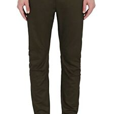 LANVIN MENS RELAXED BIKER COTTON CANVAS TROUSERS