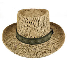 UV 50+ Men's Straw Summer Gambler Hat with Golf Theme Hat Band - Free Shipping
