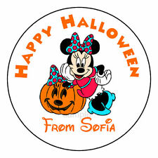 Minnie Mouse Halloween Party Favor Trick or Treat Candy Labels Stickers