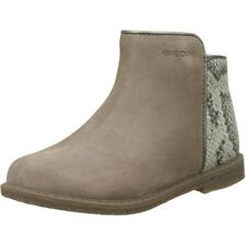 Geox J Shawntel D Taupe Suede Youth Boots