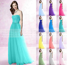 Bridesmaid Dress Formal Long Evening Ball Gown Party Dress Size 6 8 10 12 14 16