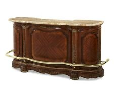 AICO Furniture - Cortina Bar with Marble Top (Honey Walnut) - N65500-28