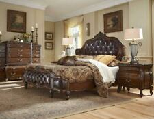 AICO Furniture - Lavelle Melange 5 Piece Queen Wing Mansion Bedroom Set with Lea