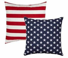 American Flag Reversible Outdoor Pillow, Stars & Stripes Pillow, Red Navy Pillow