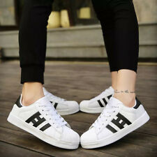 New Mens Superstar Casual Lace Up Flats Sneakers Trainer Shoes Boys Gym Sizes
