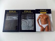 POLO RALPH LAUREN STRETCH COTTON LOW RISE BRIEF WHITE XL OR BLACK OR GREY XXL
