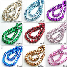 New color 10pcs Cube Square Charms Finding Loose Glass Crystal Spacer Beads DIY